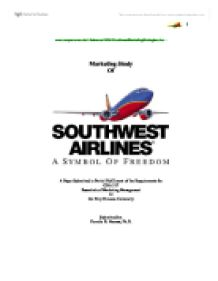 a study on southwest airlines essay