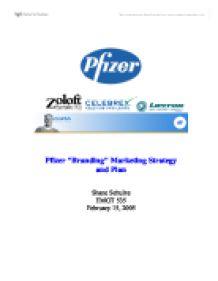 pfizer marketing plan A marketing plan is a written discus's that details the actions needed to achieve the marketing strategy of advertising marketing plans: an example of success a product that has been successfully marketed is the medication called lyrica,.