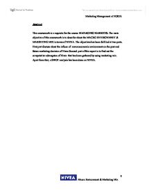 essay for nivea company Writepass - essay writing  due to the overdependence of the company on nivea brand,  the writepass journal.