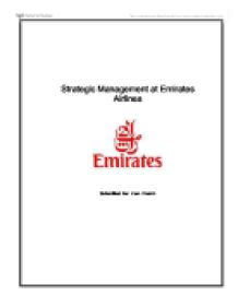 overview and analysis of emirates airline Structure of emirates airlines  quality control is the cornerstone of emirates airline's fundamental success  strategic analysis on emirate airlines uploaded by.