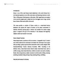 Transport and tourism essay