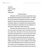 Student Essay Sample