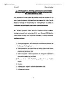 education learning environments essay