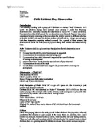 observing child play essay