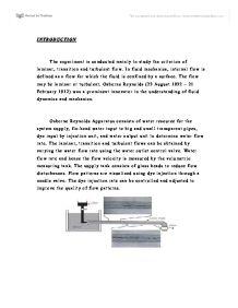 Sample Report Osbourne Reynolds
