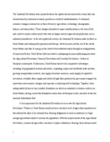 High School Essay Format Why Did The Industrial Revolution Occur In Britain First  University  Historical And Philosophical Studies  Marked By Teacherscom Political Science Essay Topics also Sample Of Proposal Essay Why Did The Industrial Revolution Occur In Britain First  Thesis Example Essay
