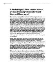 essay michelangelo pieta Michelangelo's pieta term papers, essays and research papers available.