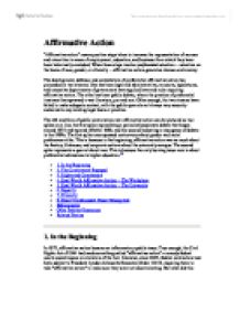 affirmative action1 essay Why we still need affirmative action affirmative action is not about giving african-americans now the 40 acres and a mule their enslaved ancestors never got.