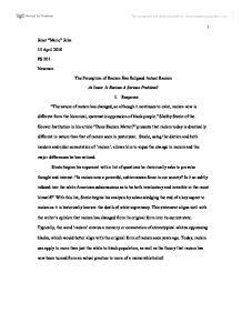 Racism essay introduction