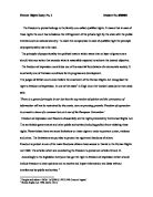 Free Human Rights Essays | Law Teacher