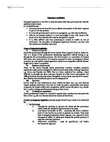 delegated legislation 2 essay Delegated legislation uk essay apa  partielle differentialgleichung 2 ordnung beispiel essay althusser lenin and philosophy and other essays on the great reasons.