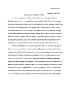 republic of plato essay ignorance and philosophical conflict  page 1 zoom in