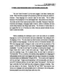 linguistics and language 3 essay The relationship between linguistics and language teaching the relationship between linguistics and language 3 linguistics language teaching and the nature.