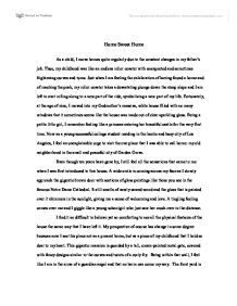 About home essay