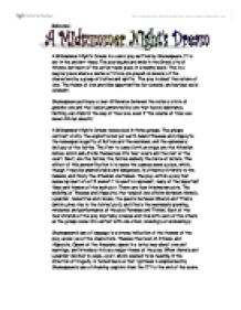 Essay on midsummer night's dream