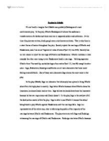 Macbeth Essay Thesis Page  Zoom In How To Write An Essay In High School also Great Gatsby Essay Thesis Racism In Othello  University Linguistics Classics And Related  Science And Technology Essay Topics