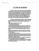 comparitive critical essay the murder in the rue morgue and the  a case of murder