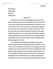southern gothic a rose for emily is a story in which a w page 1 zoom in