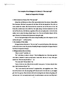 the analysis of the dialogues in the last leaf based on  page 1 zoom in