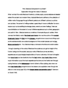 The Experience Of A Lifetime English Literature Essay