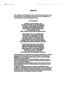 examining the poem break of day english literature essay A day with an english language and composition reader  the chief reader for the 2017 ap english literature and composition exam provides a brief  of imaginative.