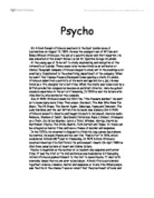 "physco alfred hitchcock essay Read this music and movies essay and over 88,000 other research documents psycho universal studios presents the 1960 film ""psycho"" by alfred hitchcock, adapted."