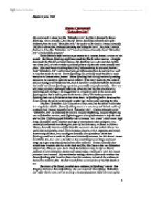 schindler list essay
