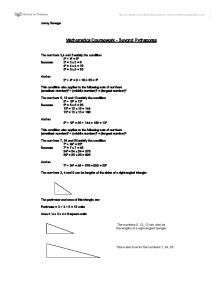 pythagoras coursework Math coursework topic: pythagoras' theorem question: (as given in the mail sent) there is a traditional chinese way of illustrating the pythagoras' theorem.