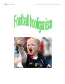 hooliganism in sports essay