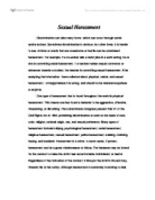 Sexual Harassment  University Miscellaneous  Marked By Teacherscom Page  Zoom In