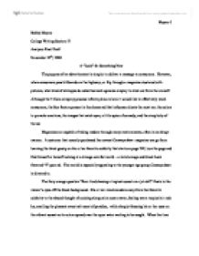 Analytical essay on advertisement