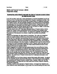 mass media and popular culture essay