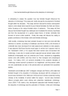 essay on feminist criminology Feminism and criminology kathleen daly yale university meda chesney-lind university of hawaii in this essay we sketch core elements of feminist thought and.