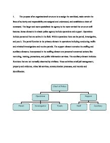 Police organisational management essay