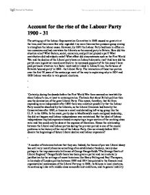 rise of labour party as level essay The rise of the labour party had more to do with class consciousness than socialism discuss related as and a level political philosophy essays.