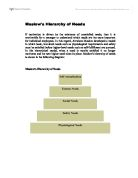critically evaluate maslow's hierarchy of needs Psychology and maslow essay psychology and maslow essay submitted by samwoody74 words: 1339 pages: 6  open document this assignment will explore the hierarchy of needs as developed by abraham maslow it will contemplate to what degree the model is now meeting my own needs it will also discuss and critically evaluate maslow's hierarchy of needs.