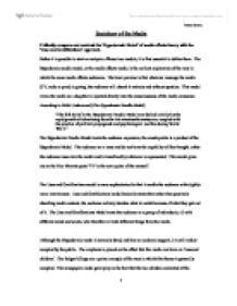 Uses and gratifications essay