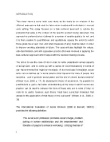 task centered approach this essay takes a social work case study  page 1 zoom in