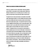 Thesis Of An Essay Children Young People And Families English Extended Essay Topics also Narrative Essay Examples High School Juvenile Delinquency  University Social Studies  Marked By  Buy Litrature Review