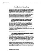 core conditions counselling essay The person-centered counseling approach was established in the 1940's by humanistic psychologist, carl rogers the goal of a person-centered therapy is to create.