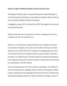essay on health promotion in nursing  investigating student   essay on health promotion in nursing