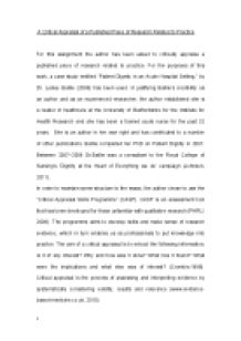 page 1 zoom in - Example Of Critical Appraisal Essay