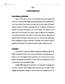 Social learning communication theory essay