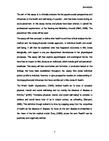 Yellow Wallpaper Essays Page  Zoom In Abraham Lincoln Essay Paper also Modest Proposal Essay Ideas The Aim Of This Essay Is To Critically Evaluate The Biopsycho  Thesis Of An Essay