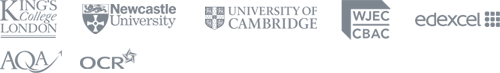 King's College London, Newcastle University, University of Bristol, University of Cambridge, WJEC, AQA, OCR and Edexcel