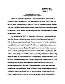 Essay On Man Summary The Great Gatsby Landscape S Relation To Theme Gcse English Corruption Essay also Leisure Time Essay Essay About The Great Gatsby  Textpoemsorg Girl Jamaica Kincaid Essay