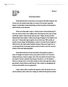 argumentative essay on school dress code