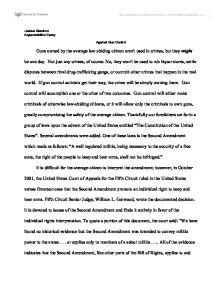 Argument Essay On Gun Control